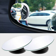 2pcs 360° Car Rearview Frameless Wide Glass Angle Round Convex Blind Spot Mirror