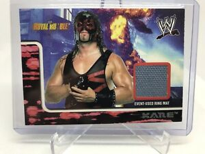2002 Fleer WWF WWE Royal Rumble KANE Event Used Mat RELIC RARE