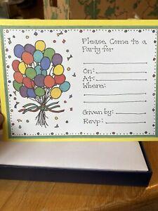 2 Boxes of Ten (10) CRANE IMPRINTABLES Printable Birthday Party Invitations NIB