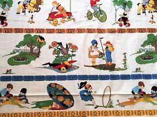 Fabric American Jane MODA Cotton PUNCTUATION Cream Children Playing Border 1/2 Y