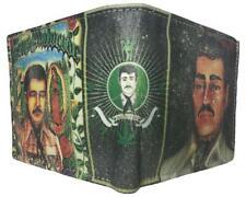 NEW JESUS MALVERDE NARCO SINALOA CARTEL LEATHER bi-fold wallet CARTERA