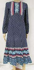 Vintage 70s Dress Prairie Floral Calico Boho Hippie Festival Puff Sleeve