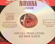 Nirvana Lithium Australia Live CD Super Rare Kurt Cobain Smells Like Teen Spirit