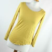 Next Womens Size 12 Yellow Plain Basic Tee