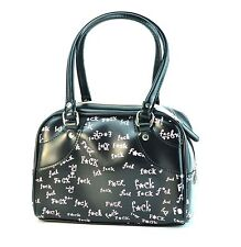 Black Pink F*ck Word Print Small Purse Punk Gothic Rockabilly Teen Sexy Fetish