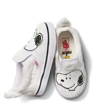 NEW Vans CLASSIC SLIP ON Peanuts Snoopy White Toddler Shoes 10