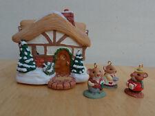 Hallmark Ornament 1995 A MOUSTERSHIRE CHRISTMAS 4 Piece Miniature Set MIB