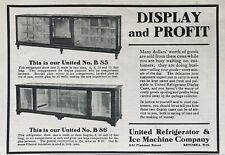1913 Ad(L16)~United Refrigeration & Ice Machine Co. Kenosha, Wis. Grocery Cases