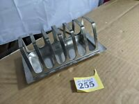 VINTAGE 1970s Stainless Steel Toast Rack From Denmark 6 Slice Modernist y255