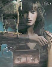 ▬► PUBLICITE ADVERTISING AD LONGCHAMP Paris Maroquinerie Sac 2002