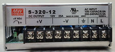 Mean Well POWER SUPPLY 300W, 12V, 25A,Model S-320-12( input 115 or 220)