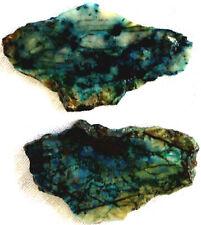 New listing Chrysocolla Slab - Cuprite - Tenorite - Quartz - 100 grams - Arizona - Lot of 2
