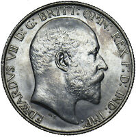1902 FLORIN - EDWARD VII BRITISH SILVER COIN - V NICE