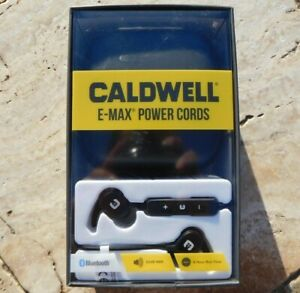 🌟🎈 CALDWELL E-MAX POWER CORDS EECTRONIC EARPLUGS IN-EAR Bluetooth 1121933 🌟