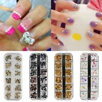 12 Grids 3D Nail Art Glitters Beads Sequins Decor Manicure Accessories DIY
