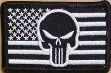 Usa American Flag Iron-On Patch Morale Tactical Punisher Emblem Version #10