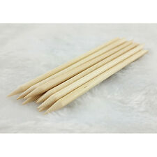 10 x Nail Art Orange Wood Stick Cuticle Pusher Remover Manicure Tool Y031-10