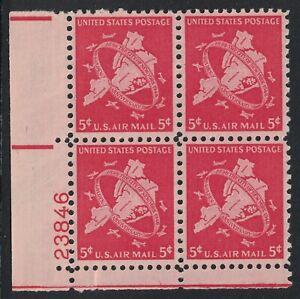 Scott C38- MNH Plate Block of 4- 5c New York City Jubilee, Map- 1948 mint PB
