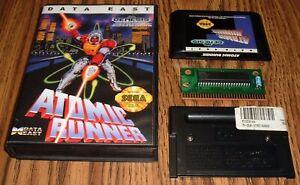 Atomic Runner 1992 Sega Genesis authentic cart in case w/ reproduction art cover