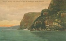 QUEBEC QC – Capes Trinity and Eternity Lower St. Lawrence River –Hand Colored PC