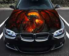 Dragon Fire Full Color Sticker Car Hood Vinyl Car Vinyl Graphics Decal Wrap MH82