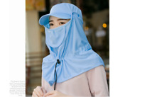 New Sunshade Hat Female Summer Sunscreen Shade Protection  Ultraviolet  Blue