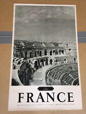 COLLECTION AFFICHE  POSTER PUBLICITAIRE ANCIENNE PHOTO DE FRANCE 1950
