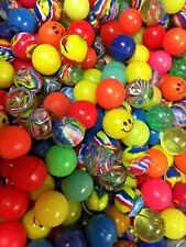 "GIANT LOT 1"" Superballs Rubber Balls vending 27 mm Multi-Colored OVER 300 PIECES"