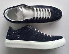 JIMMY CHOO Portman Paint-Splattered Suede Sneakers EU 44 UK 10 RRP £450