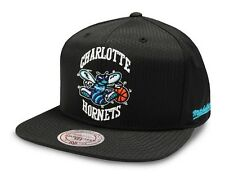 Black Hornets Cap NBA Mitchell & Ness Ripstop Snapback Cap - New - One Size