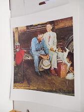 "Norman Rockwell Painting Poster Print ""Breaking Home Ties"" Teen Boy College"