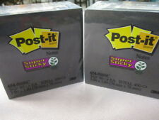 Post-it Super Sticky Notes Black 3 in x 3 in 5 Pads/Pack (2 Packs of Pads)