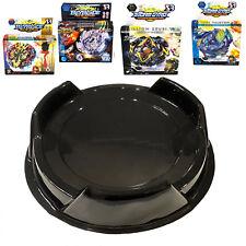 Ultimate Beystadium Burst Set 4 Beyblades w/ Launcher + Black Stadium Kids Toy