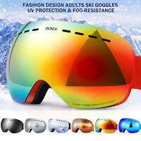 Frameless Snowboard Snowmobile Professional Ski Goggles Anti Fog UV Double-Lens