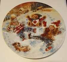 Snow Angels Joys Of Childhood Collection Stewart Sherwood Dominion China Plate