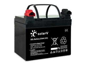 enjoysolar® Gel Batterie 33Ah 65Ah 100Ah 150Ah 12V Solar zyklische Anwendungm PV