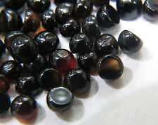 10cts Loose Black Onyx Round Cabochon 3.5-4.0mm Approx 30pc In Lot Opaque