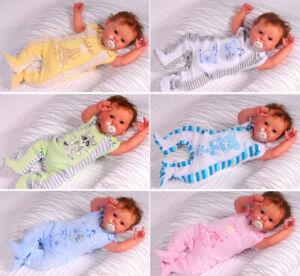 Baby Strampler 44 50 56 62 68 74 Schlafanzug Einteiler Kleidung