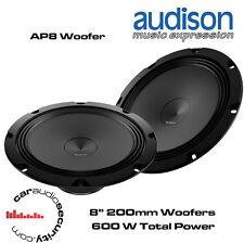 """AUDISON ap8 WOOFER - 200mm 8"""" PORTE WOOFER 600 Watt di potenza totale"""