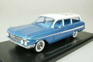 Chevrolet Nomad Station wagon - 1961 Blue - White 1/43 Neo 46966 New