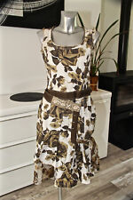 luxueuse robe gitane à fleurs viscose soie BLEU BLANC ROUGE taille 42 fr 46i