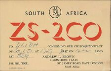 ZS-2CO. South Africa.  Andrew L Brown. St James' Road, London.  DL1DH JD.898