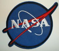 NASA Logo Patch~Embroidered~Insignia~Emblem~Meatball~3 7/8 x 3 1/4~FREE Shipping