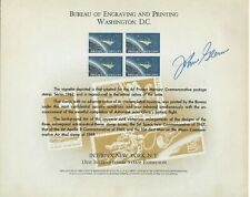 ASTRONAUT JOHN GLENN AUTO ON BUREAU OF ENGRAVING CARD DEPICTING PROJECT MERCURY