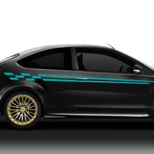 Auto Aufkleber Autoaufkleber Seitenaufkleber 2er Set Racing Design Sticker X8161