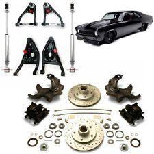 """68-74 Chevrolet Nova 2"""" Drop Disc Brake Conversion Kit Control Arms & Shocks GM"""
