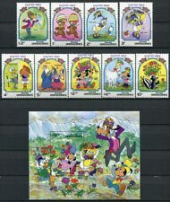 Grenada Grenadinen 1984 Disney Ostern Easter 590-598 + Block 79 ** MNH