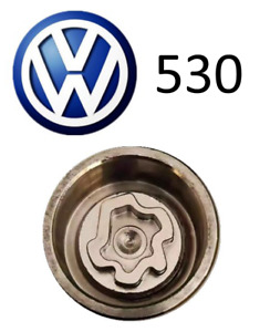 VW New Locking Wheel Nut Key Letter L,  Code 530 with 17mm Hex