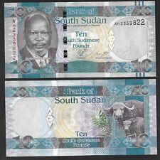 SOUTH SUDAN 10 POUNDS (2011), P-7 - UNC BANK NOTE - ANIMAL / BUFFALO