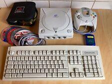 Sega Dreamcast Spielekonsole Tastatur Controller Memory DC 4 Mega Spielepaket